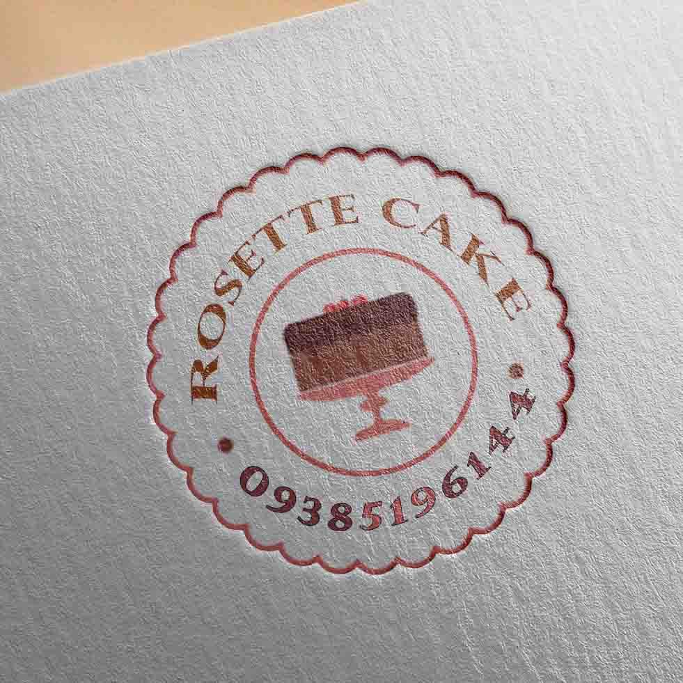 طراحی لوگو برای گروه خلاق رُزِتا کیک